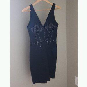 Topshop Contrast Stitch Mini Dress Trompe l'oeil